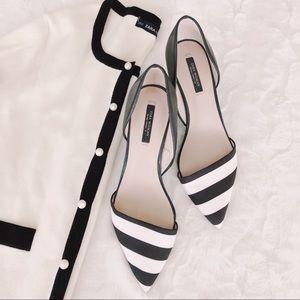 {zara} vamp striped heels